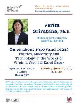 Gościnny wykład dr Verity Sriratany