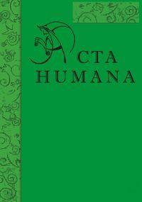 Acta Humana 8/2017 - nabór tekstów do 15 października
