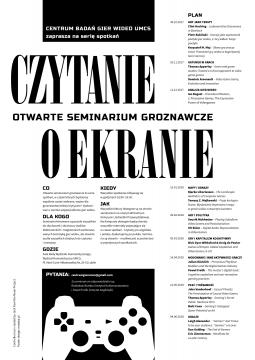 "Otwarte seminarium groznawcze: ""Gracze"""