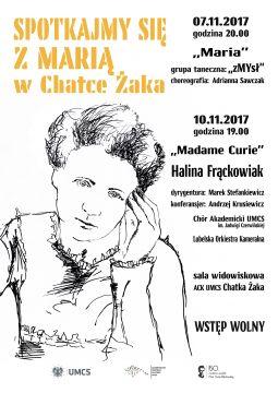 """Spotkajmy się z Marią w ACK UMCS """"Chatka Żaka"""""""