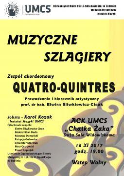 """Koncert zespołu akordeonowego Quatro – Quintres """"Muzyczne..."""