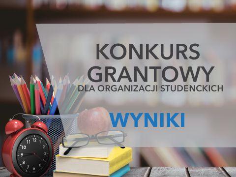 Wyniki konkursu grantowego dla organizacji studenckich