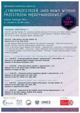 Konferencja: Cyberprzestrzeń jako nowy wymiar przestrzeni...