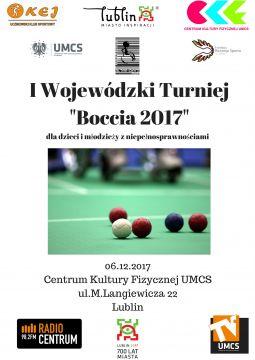 """I Wojewódzki Turniej """"Boccia 2017"""" dla dzieci i..."""