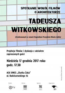 Spotkanie wokół filmów o architekturze T. Witkowskiego