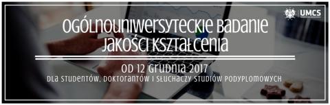 Badanie Jakości Kształcenia - dostępne do 26.01.2018!