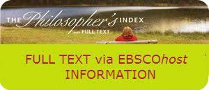 Philosopher`s Index with Full Text - pełnotekstowa baza...