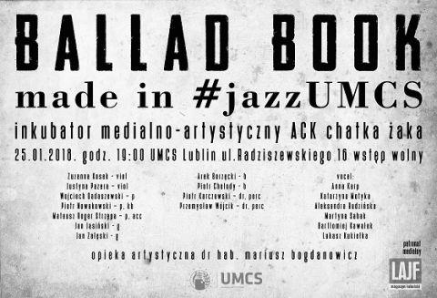 Koncert: Ballad Book Made in #jazzUMCS