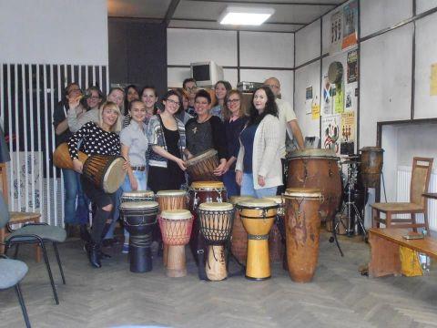 Drum workshop at Chatka Żaka