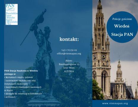 Oferta Stacji PAN w Wiedniu na pobyty naukowe i badawcze