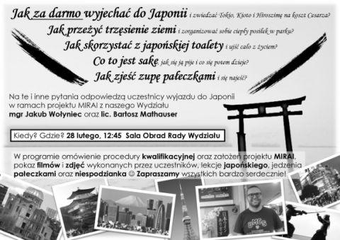 Japoński program MIRAI – spotkanie informacyjne
