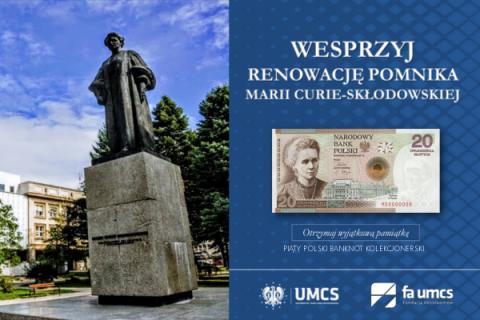 Zbiórka na renowację pomnika Marii Curie-Skłodowskiej