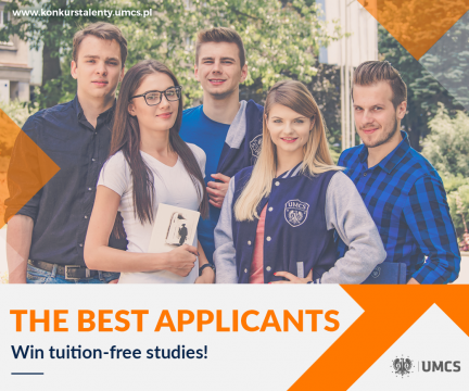 The Best Applicants. Win tuition-free studies!