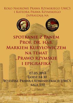 """Seminarium naukowe nt. """"Prawo rzymskie i..."""