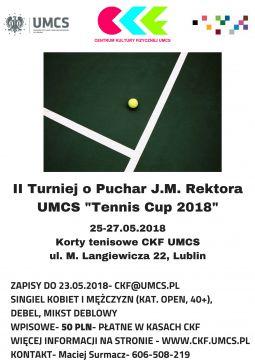 II Turniej o Puchar Rektora UMCS w Tenisie Ziemnym