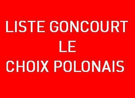 La liste Goncourt