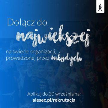 Zacznij zmiany już dziś – zaaplikuj do AIESEC!