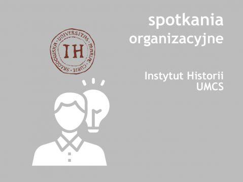 Spotkania organizacyjne dla I r. I i II stopnia