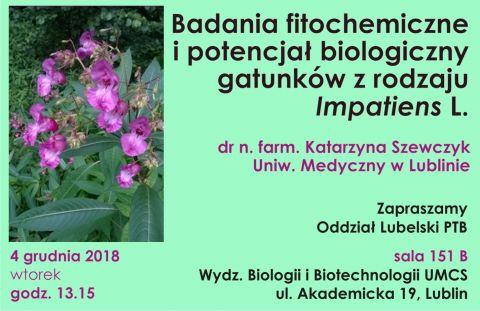 Wykład dr n. farm. Katarzyny Szewczyk