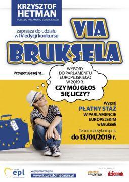 "Konkurs ""Via Bruksela"" - zgłoszenia do 13..."