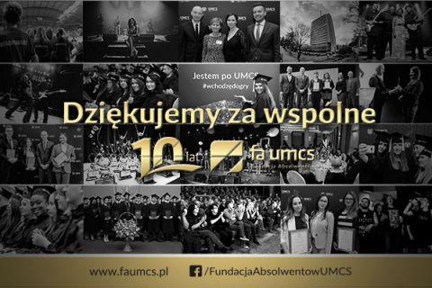 10 lat Fundacji Absolwentów UMCS