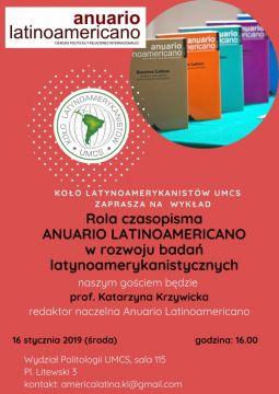 "Wykład: ""Rola czasopisma Anuario Latinoamericano"""