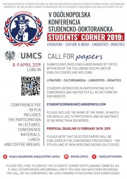 Students' Corner – przyjmujemy zgłoszenia