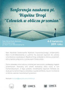 Konferencja WSPÓLNE DROGI