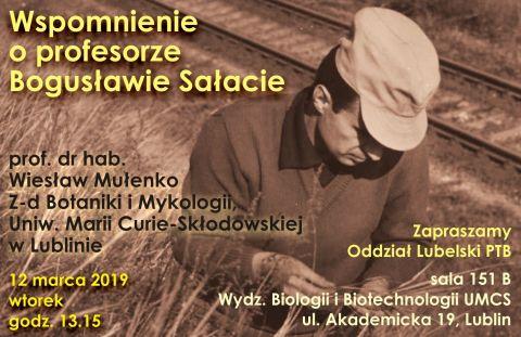 Wspomnienie o profesorze Bogusławie Sałacie