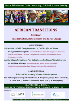 AFRICAN TRANSITIONS - Seminar on Reconstruction,...