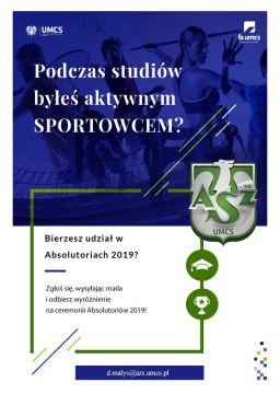 Absolutoria 2019 - wyróżnienia dla aktywnych sportowców