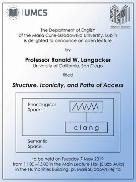 Wykład prof. Ronalda Langackera
