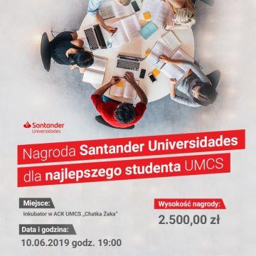 Nagroda dla najlepszego studenta UMCS