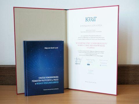 Dyplom Uznania KRRiT dla Wydawnictwa UMCS