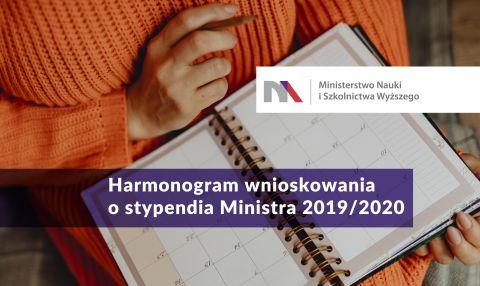 Harmonogram wnioskowania o przyznanie stypendium ministra...