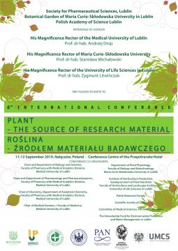 """6th International Conference """"Plant – the source of..."""