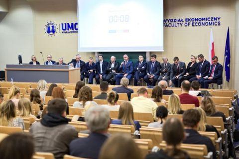 Debata gospodarcza na Wydziale Ekonomicznym UMCS