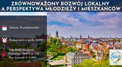"""Zaproszenie na debatę """"Lublin: Zrównoważony Rozwój-..."""