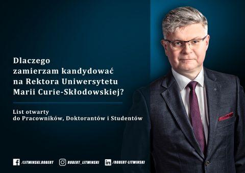 List otwarty prof. Roberta Litwińskiego do społeczności...