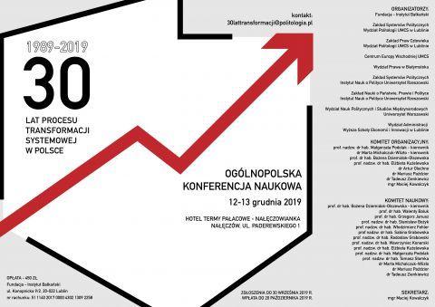 Ogólnopolska konferencja naukowa 30 lat transformacji...