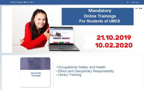 Mandatory Online Trainings for I Year Students