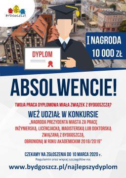 Nagroda Prezydenta Miasta za związane z Bydgoszczą prace...