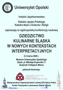 """""""Dziedzictwo kulinarne Śląska w nowych kontekstach..."""