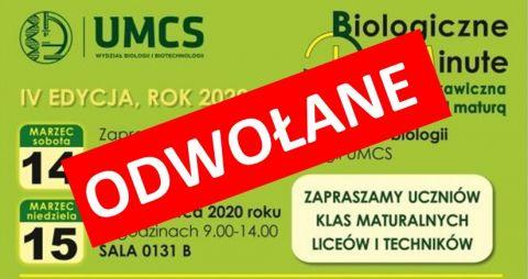 Uwaga! Biologiczne Last Minute odwołane!