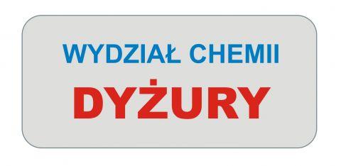 Dyżury na Wydziale Chemii
