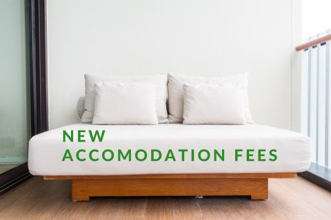 Accomodation fees in March