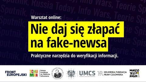 """Webinarium """"Nie daj się złapać na fake newsa!"""""""