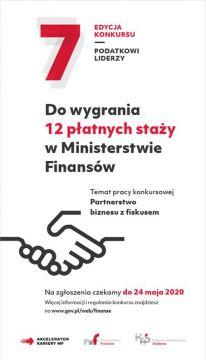 ZAPROSZENIE: Konkurs Ministerstwa Finansów...