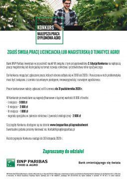 Zaproszenie do Konkursu dla Agroabsolwentów