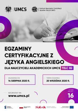 Egzaminy certyfikacyjne z języka angielskiego dla...